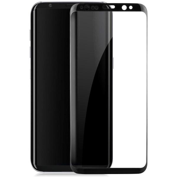 Curved Displayschutzglas für Samsung Galaxy S8 - Schwarz