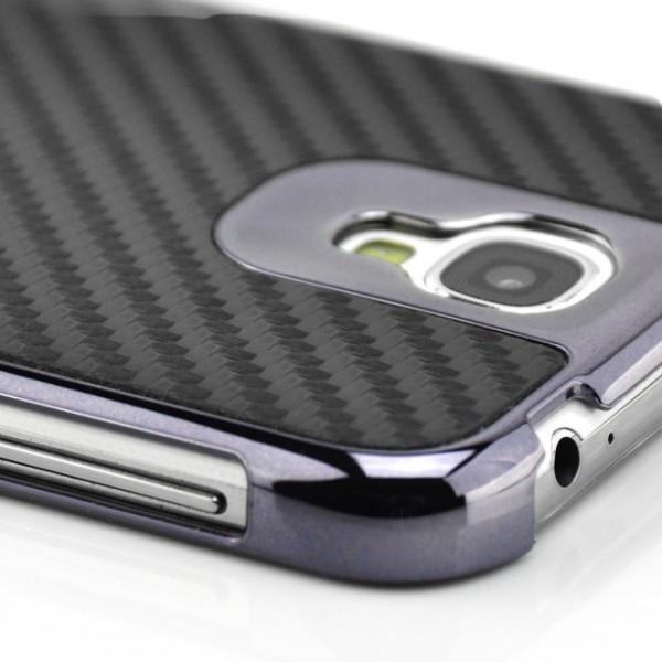 Carbon Back Cover für Samsung Galaxy S4 Schwarz