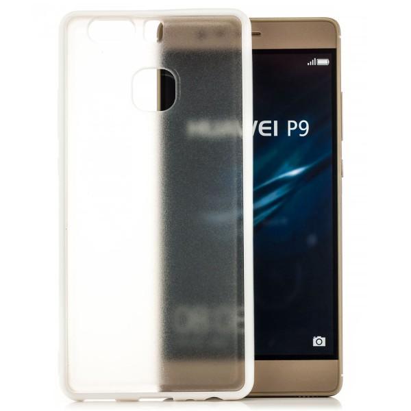 Hard-Soft Back Cover für Huawei P9 - Weiß