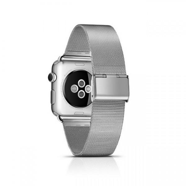 Edelstahl Uhrenarmband für Apple Watch 42mm in Silber