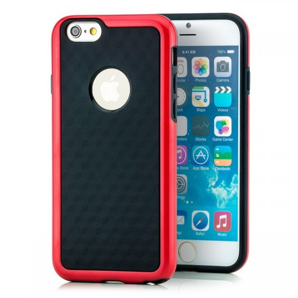 TPU Diamond Back Cover für Apple iPhone 6 & 6S (4,7) Rot -MF-