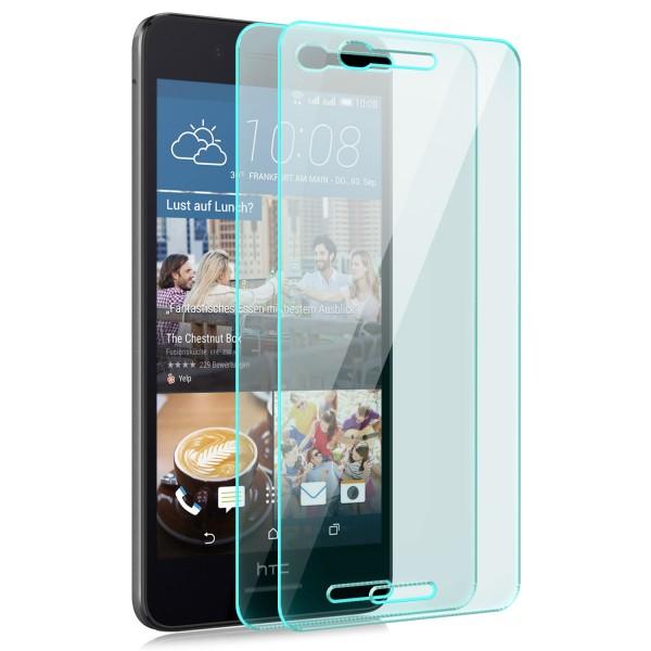 2x Displayschutzglas für HTC Desire 728G Dual Sim