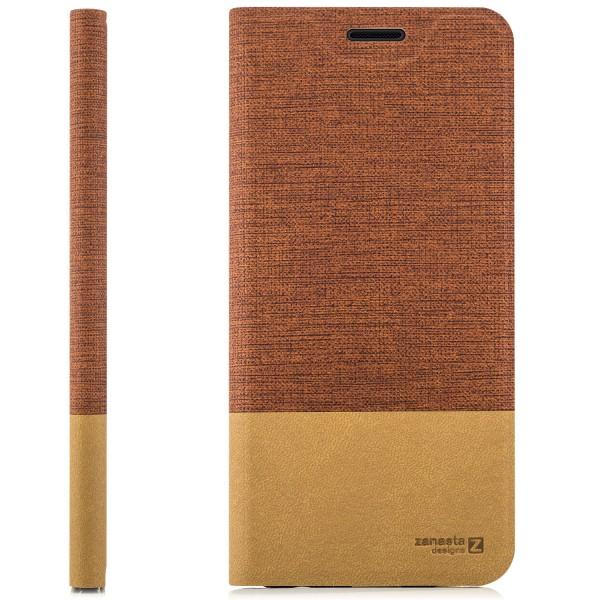 Kunstleder Slim Tasche für Huawei GX8 (G8) - Rotbraun