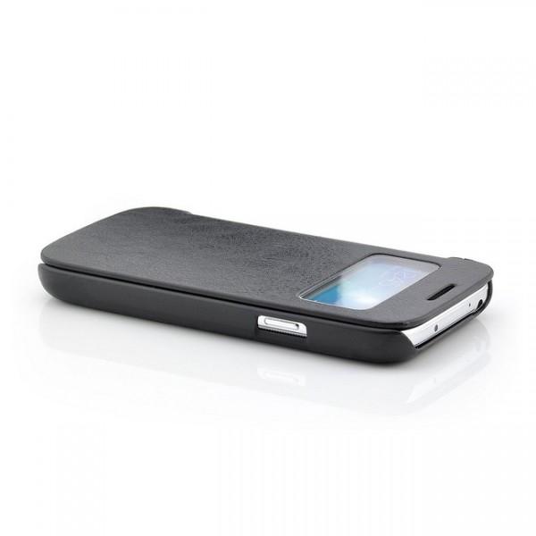 View Flip Tasche für Samsung Galaxy S4 Mini Schwarz