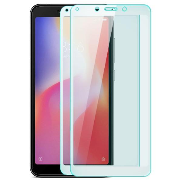 2x Full Cover Displayschutzglas für Xiaomi Redmi 6A - Weiß