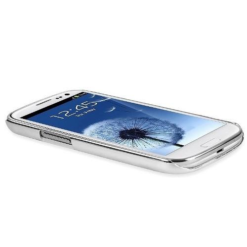 Aluminium Back Cover für Samsung Galaxy S3 Silber