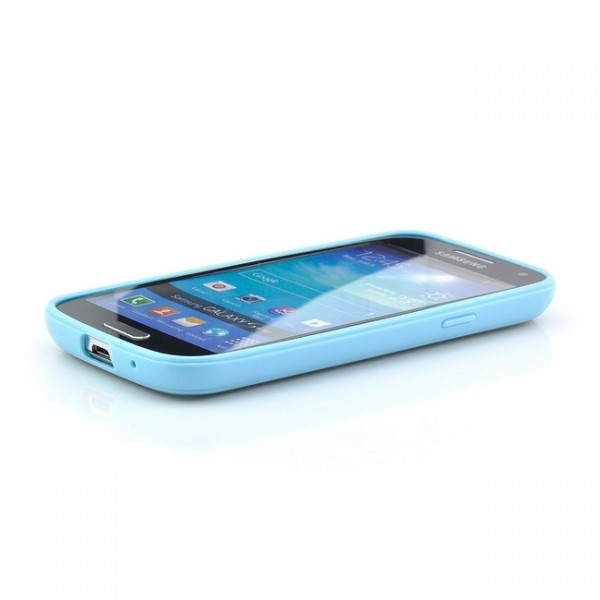 Hard Back Cover für Samsung Galaxy S4 Mini Transparent-Blau