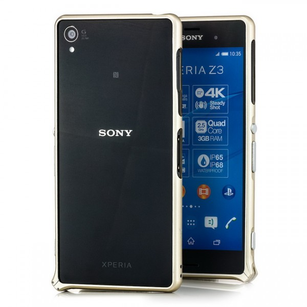 Ultra Slim Aluminium Bumper für Sony Xperia Z3 Gold