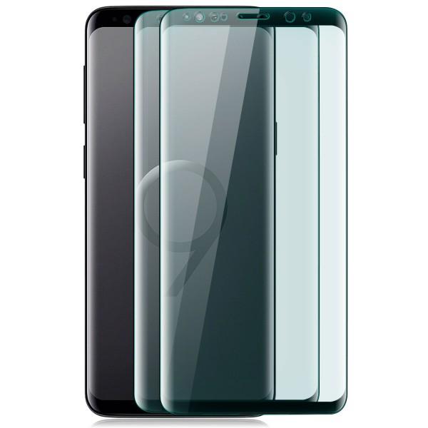 2x Curved Displayschutzglas für Samsung Galaxy S9 Plus - Schwarz