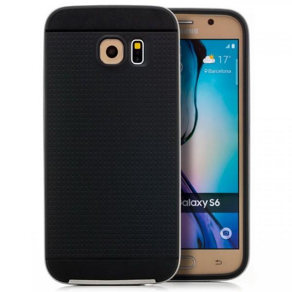 Silikon Case für Samsung Galaxy S6 Schwarz-Grau