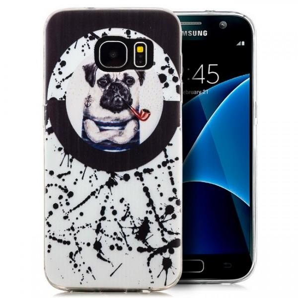 Silikon Motiv Case für Samsung Galaxy S7 - Hund mit Pfeife