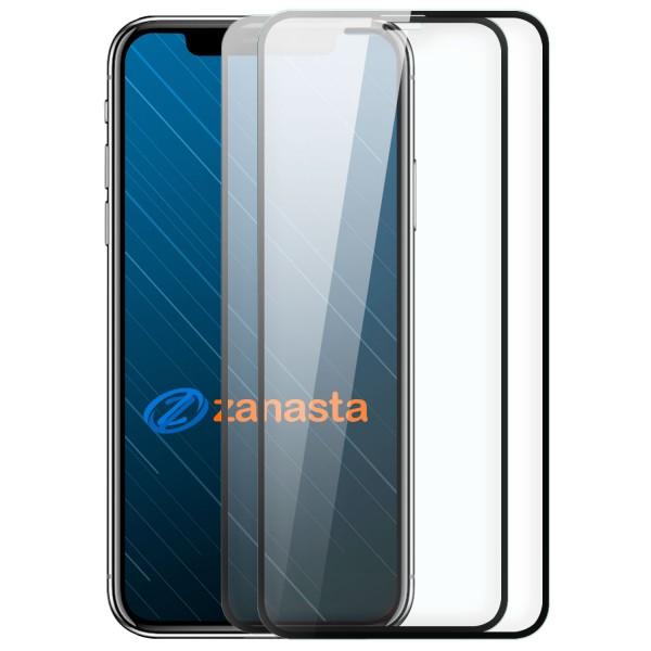 """2x 10D Displayschutzglas für Apple iPhone X / XS (5,8"""") - Schwarz"""