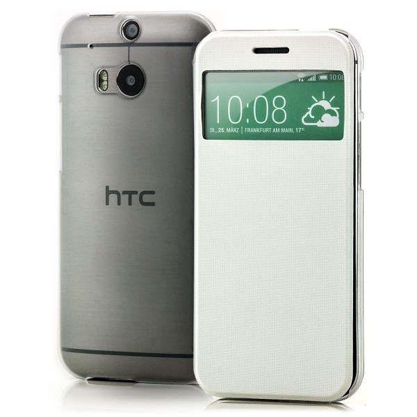 TPU Flip Tasche für HTC One M8 Weiß