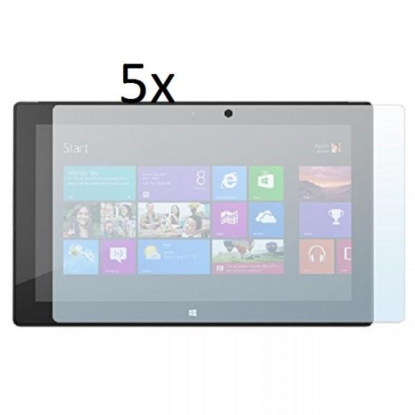5x Displayschutzfolie für Microsoft Surface RT 10.6 Matt
