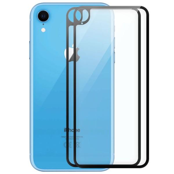 """2x Full Cover Rückseitenglas für Apple iPhone XR (6,1"""") - Schwarz"""