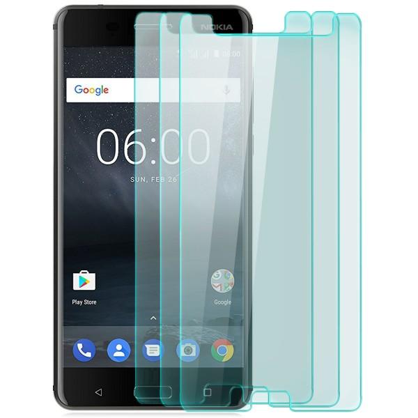 3x Displayschutzglas für Nokia 6