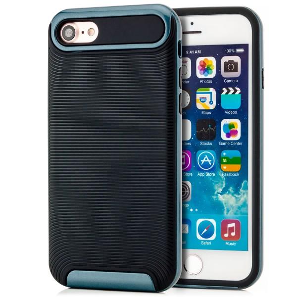 "Ar-Silikon Typ 2 Handyschale für Apple iPhone 8 / 7 (4,7"") - Schwarz-Dunkelblau"