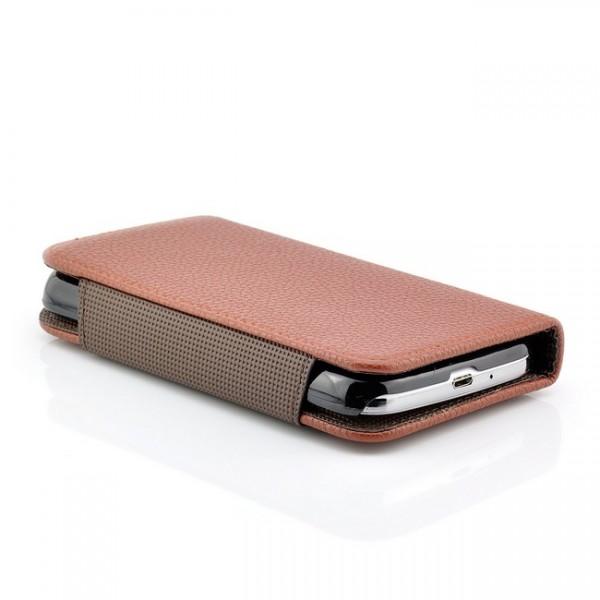 2 in 1 Back Cover Tasche für Samsung Galaxy S4 Braun