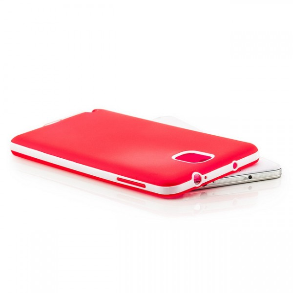 Silikon Back Cover für Samsung Galaxy Note 3 Rot