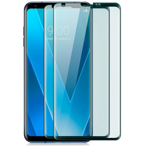 2x Curved Displayschutzglas für LG V30 - Schwarz