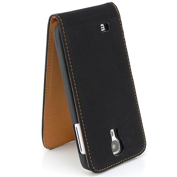 Vintage Flip Case für Samsung Galaxy S4 Schwarz
