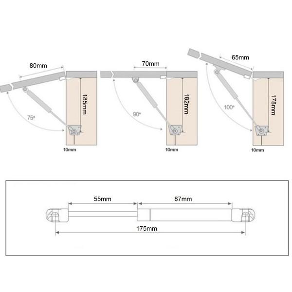 Hydraulischer Türöffner - 80N (bis 8kg)