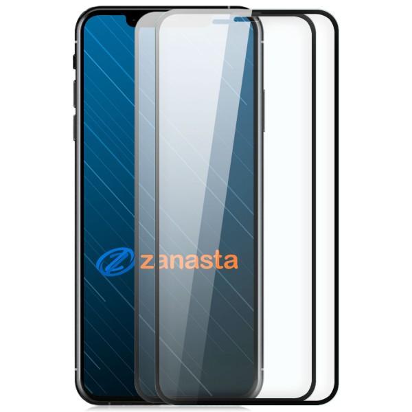 """2x 6D Displayschutzglas für Apple iPhone XS Max (6,5"""") - Schwarz"""