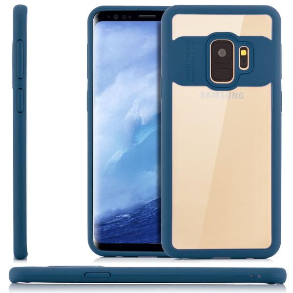 Silikon Back Cover für Samsung Galaxy S9 - Transparent-Blau