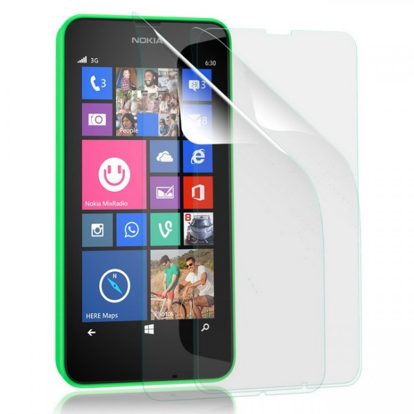3x Displayschutzfolie für Nokia Lumia 630 Klar