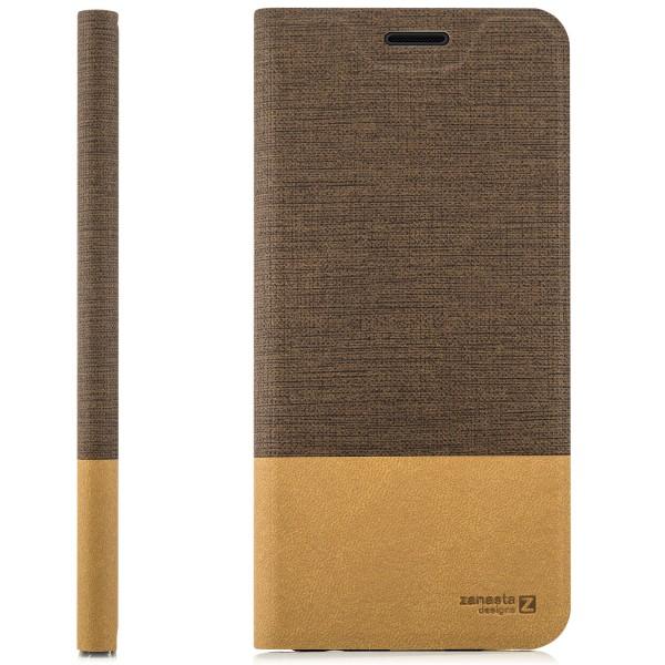 Kunstleder Slim Tasche für Huawei Honor 6X - Hellbraun