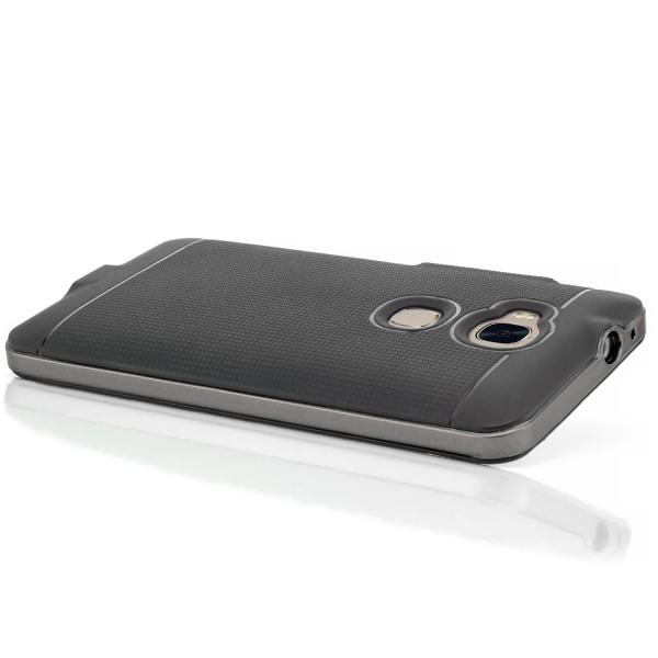 AR-Silikon Handyschale für Huawei Honor 5X - Schwarz-Grau