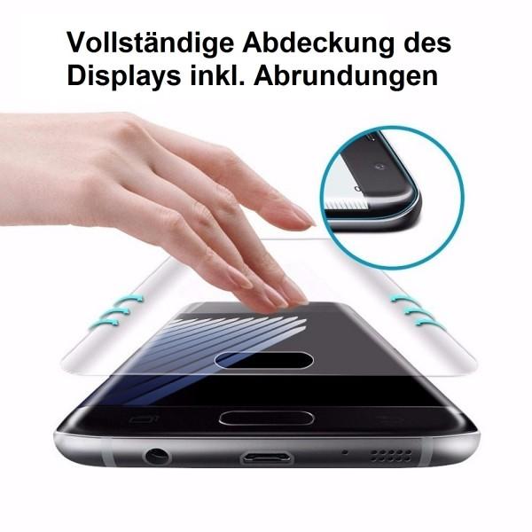 3x Curved Displayschutzfolie für Samsung Galaxy S7