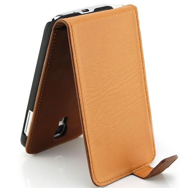 Vintage Flip Case für Samsung Galaxy S4 Braun