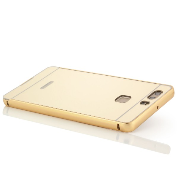 2in1 Chrom Case für Huawei P9 - Gold