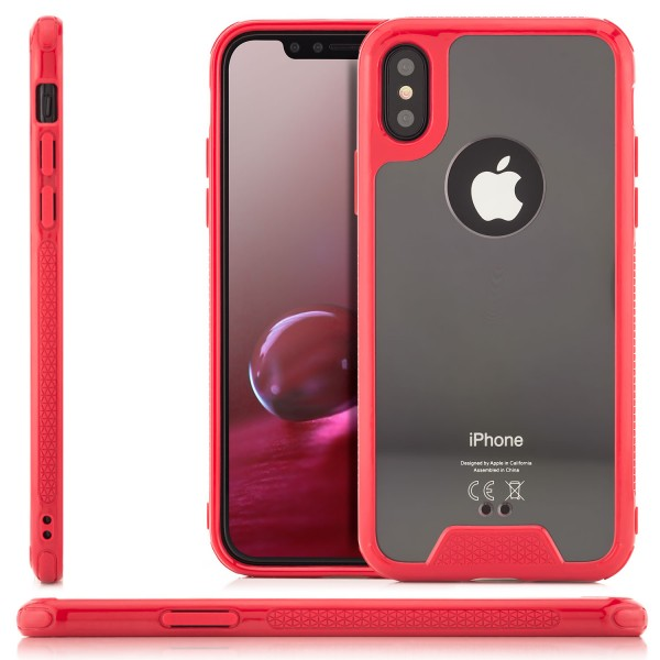 Silikon Plexiglas Back Cover für Apple iPhone X - Rot