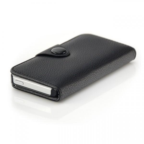 Business Wallet Case für Apple iPhone 5S & 5 Schwarz