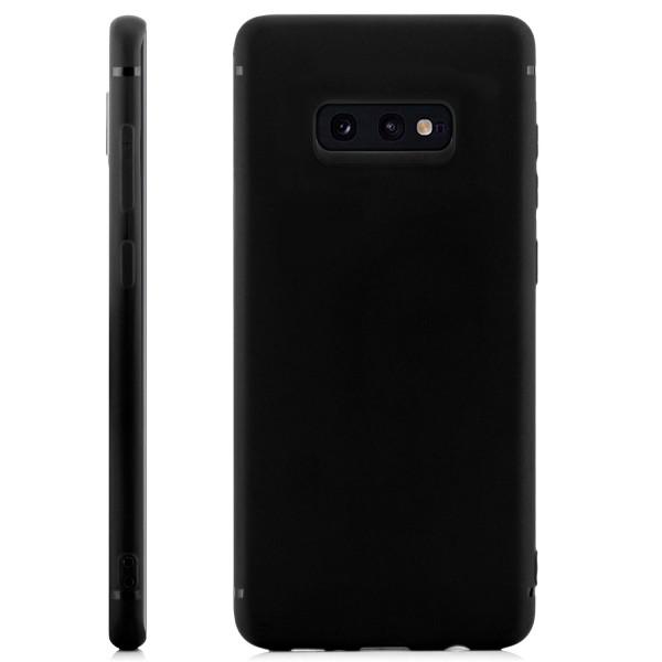 Handyhülle aus Silikon für Samsung S10 e - schwarz