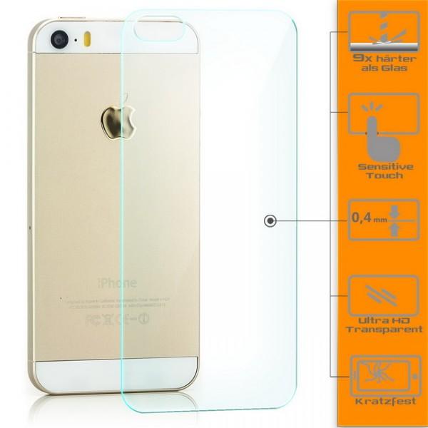 Panzerglas für Apple iPhone 5 / 5S Rückseite