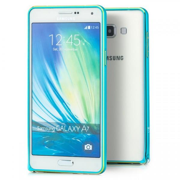 Ultra Slim Aluminium Bumper für Samsung Galaxy A7 Hellblau
