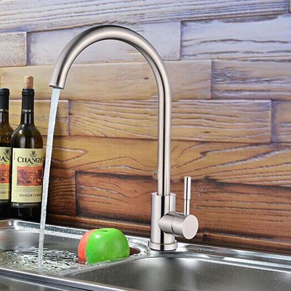 Edelstahl Küchenarmatur Spültisch Armatur Wasserhahn für Küche Einhebel Spüle Hochdruck