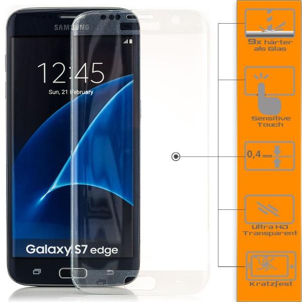 Curved Displayschutzglas für Samsung Galaxy S7 Edge Transparent