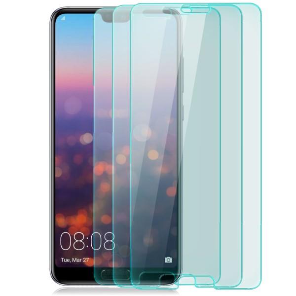 3x Curved Displayschutzglas für Huawei P20 - Transparent