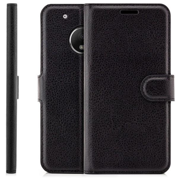 Business Flip Case mit Magnetverschluss für Lenovo Moto G5 - Schwarz