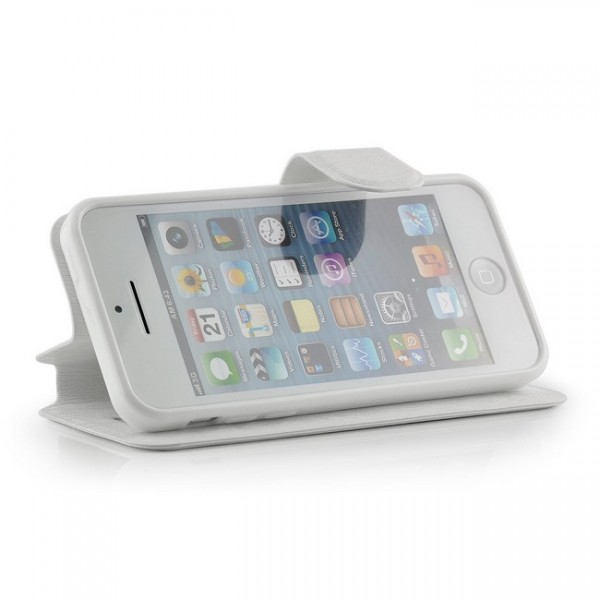 C-Style Flip Tasche für Apple iPhone 5C Weiß