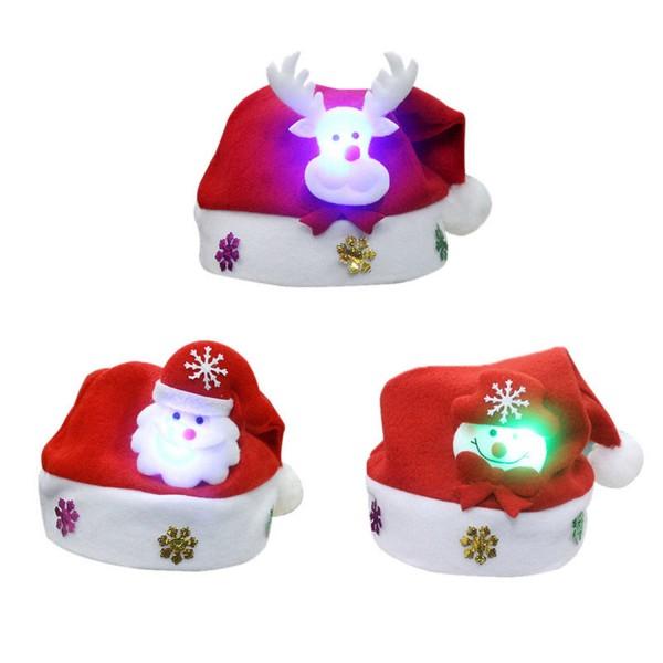 Weihnachten LED Mütze -AUSWAHL-