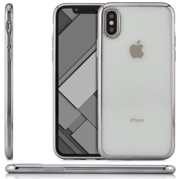 Dots Silikon Back Cover für Apple iPhone X - Silber