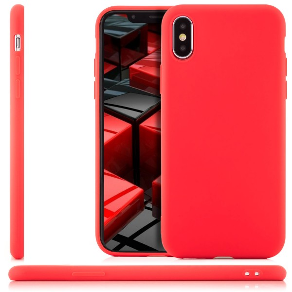 Simple Soft Back Cover für Apple iPhone X - Rot