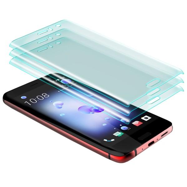 3x Curved Displayschutzglas für HTC U11 - Transparent