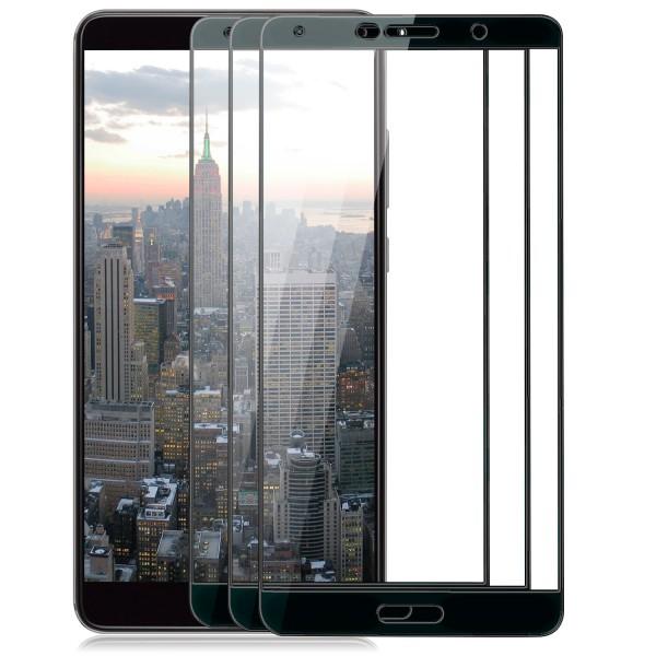 3x Full Cover Displayschutzglas für Huawei Mate 10 - Schwarz