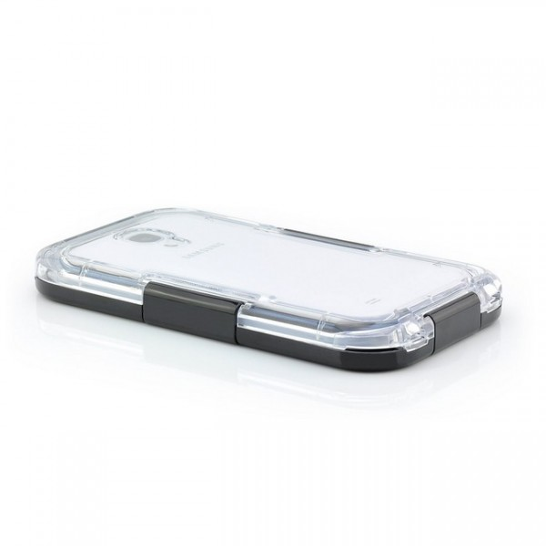 Waterproof Case für Samsung Galaxy S4 Schwarz-Transparent